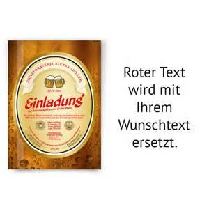Einladungskarten zum geburtstag als bieretikett bier einladung