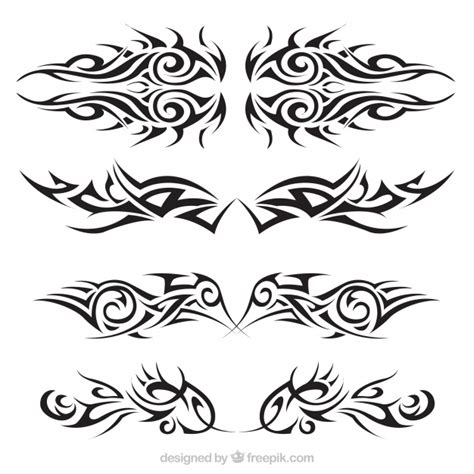 tribal decoration tattoo vector free download tribal tattoos set vector free download