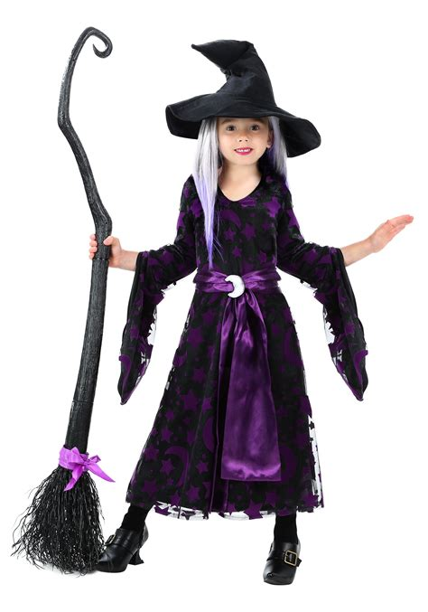 halloween costumes toddler girls purple moon witch costume