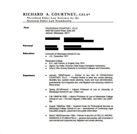 Advocate Resume Format Doc