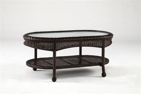 Tea Table Key by South Sea Rattan Key West Outdoor Coffee Table In Chocolate 75444 Cho