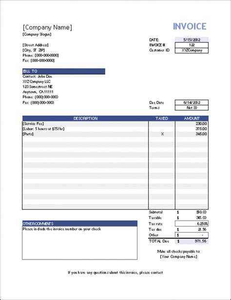 download invoice template excel 2003 rabitah net