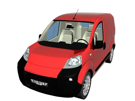 model commercial vehicles fiat fiorino commercial vehicle 3d model 3dsmax files free
