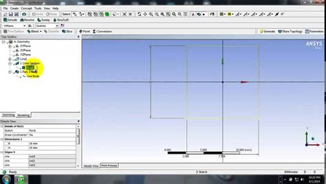 ansys section view 1 d aaalysis of beam and cross section generation using