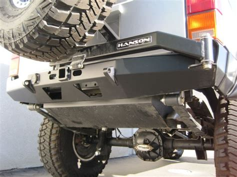 Jeep Rear Bumper With Tire Carrier Hanson Offroad Jeep Xj Rear Bumper Tire Carrier