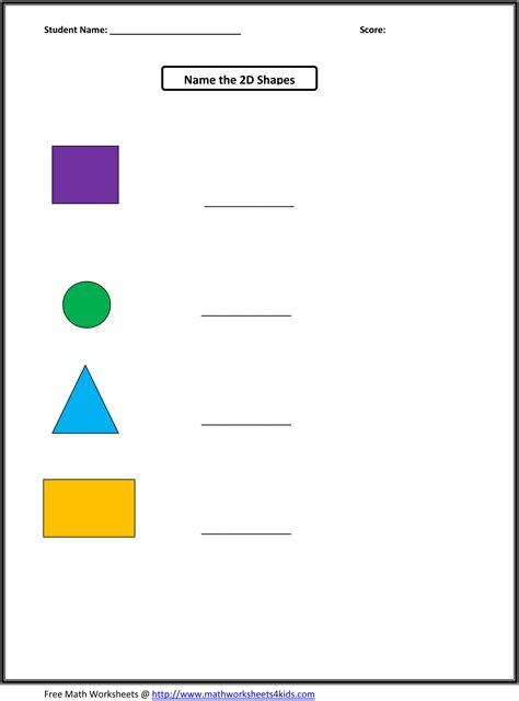 worksheet on shapes for class 2 shapes worksheets kindergarten kelpies
