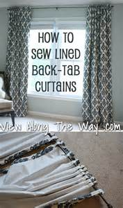 how to make drapery panels with lining how to sew tab back curtains guest tutorial