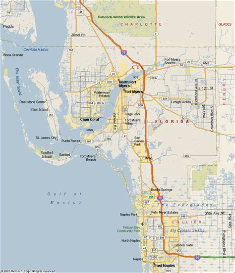 map of southwest florida map of south west florida coast pictures to pin on pinsdaddy