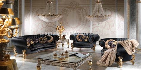 Black And Gold Living Room Furniture Royal Black And Gold Charming Living Room Furniture Sofa Set Classical Chesterfield Sofa Set