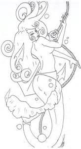 mermaid tattoo template by opiumdebonair on deviantart