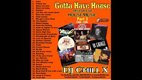 1995 house music best classic house music 1990 1995 history of house music 3 by dj chill x youtube