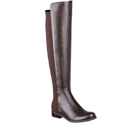 marc fisher the knee boots marc fisher leather and stretch the knee boots