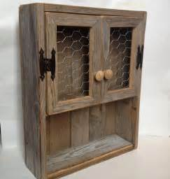 rustic bathroom wall cabinets rustic cabinet reclaimed wood shelf chicken wire decor