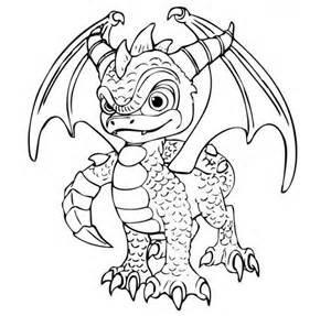 skylanders dragon coloring page search