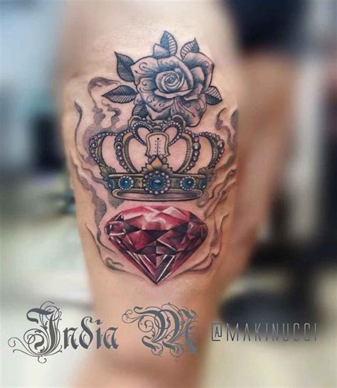 ruby tattoo designs royal crown with ruby tatuagens