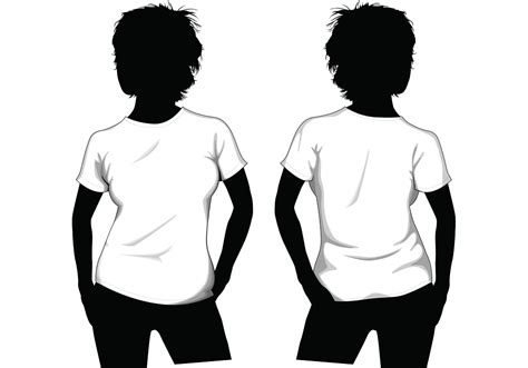 t shirt template with model t shirt template free vector stock