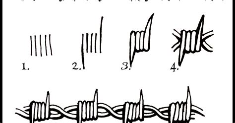 Daryl Hobson Artwork How To Draw Barbed Wire Step By Step Barb Wire Drawings