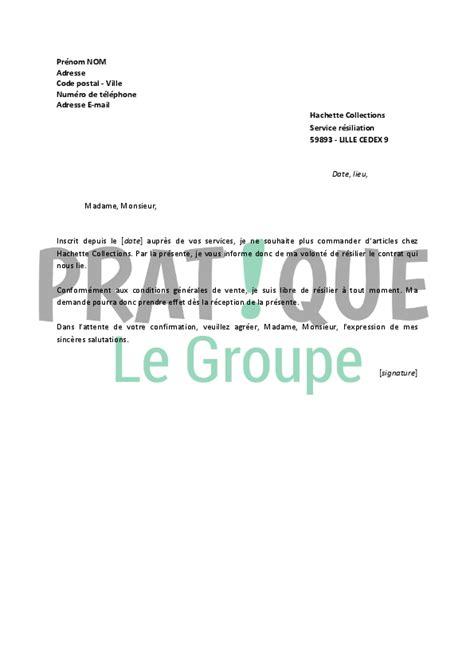 Modèle Résiliation Abonnement Magazine