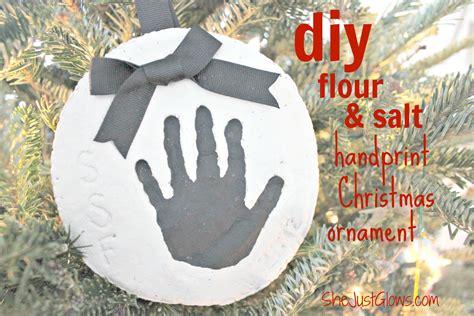 diy flour salt handprint christmas ornament