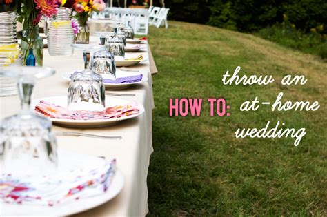 at home wedding a practical wedding ideas for the