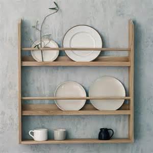 plate shelves for the wall witham oak plate rack by rowen wren notonthehighstreet