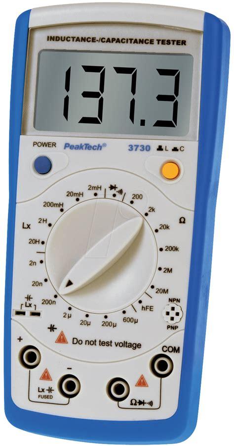 inductance measurement device peaktech 3730 inductance capacitance meter at reichelt elektronik