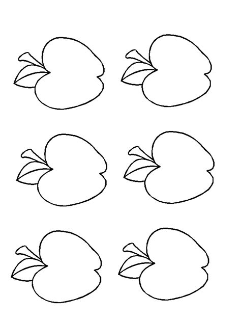 free printable coloring pages apples printable apple template clipart best