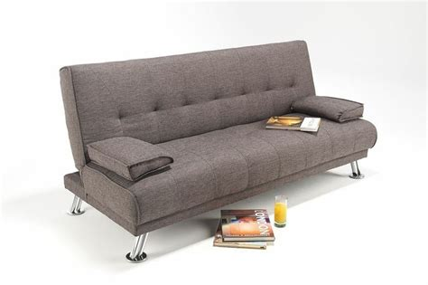 large futon large fabric italian style sofa bed on chrome legs