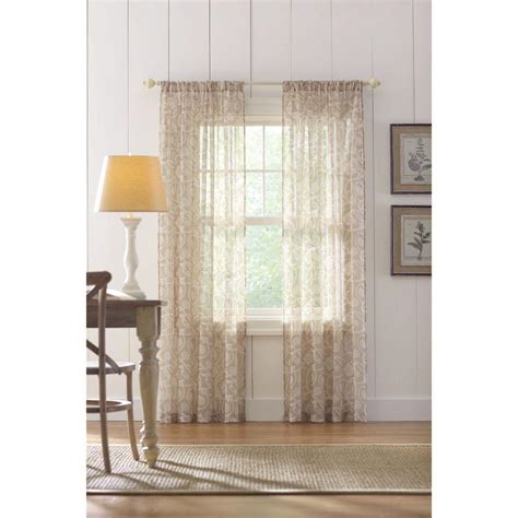 home decorators collection sheer sand rod pocket printed