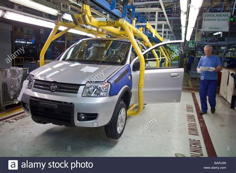 fiat 500 poland fiat panda and fiat 500 production line in factory tychy