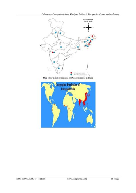 prospective cross sectional study pulmonary paragonimiasis in manipur india a prospective