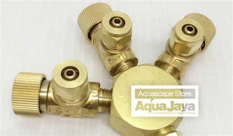 Co2 Tri Regulator ista co2 splitter 3 way cabang 3 tri regulator for aquascape aquajaya