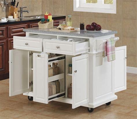 Linon Mitchell Kitchen Cart With Granite Top White by Lovely Kitchen Islands With Granite Top Gl Kitchen Design