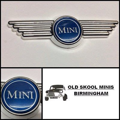 Tempelan Emblem Badge Mini Enkei classic mini blue bonnet wing badge morris cooper rover boot 3p4 oldskoolminis