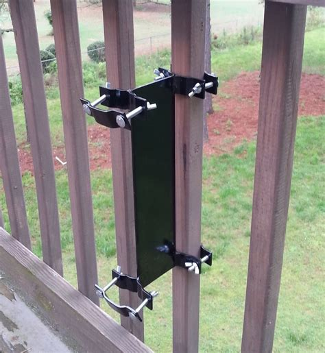 Patio Umbrella Mounts Umbrella Mount Cl On Deck Rail Or Fence Ebay