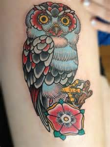 30 awesome traditional owl arm tattoos