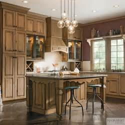 Lowes Bronze Chandelier Kraftmaid Distressed Husk Kitchen Rustic Kitchen By
