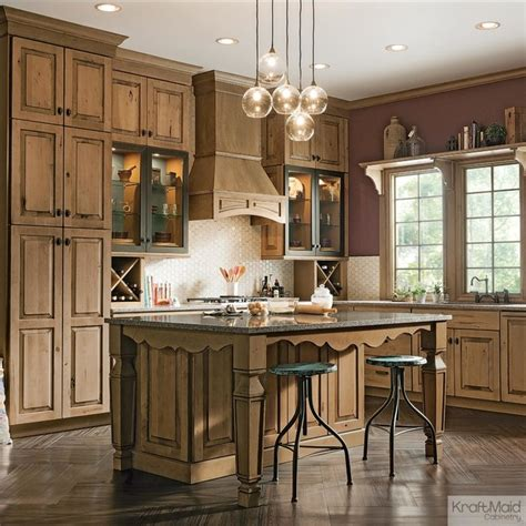 Modern Kitchen Cabinets Design Ideas by Kraftmaid Distressed Husk Kitchen Rustic Kitchen By