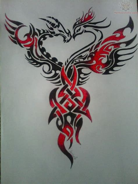 dragon and phoenix tattoo designs 1000 ideas about on tribal