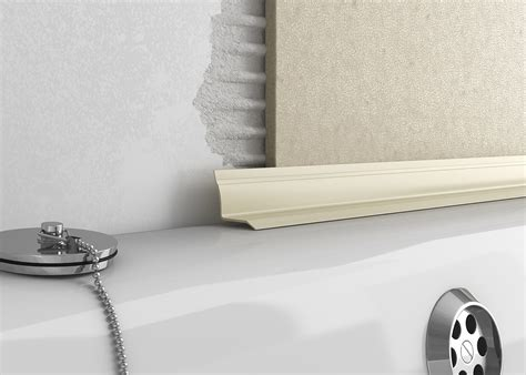 bathtub trim plastic overtile bath seal tileasy