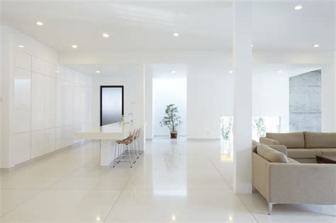 White Home Decor by All White Interior Design Mixed With Feng Shui