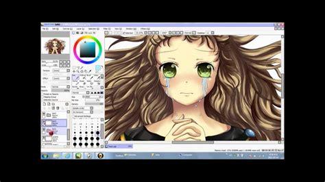 paint tool sai drawing anime paint tool sai coloring tears anime
