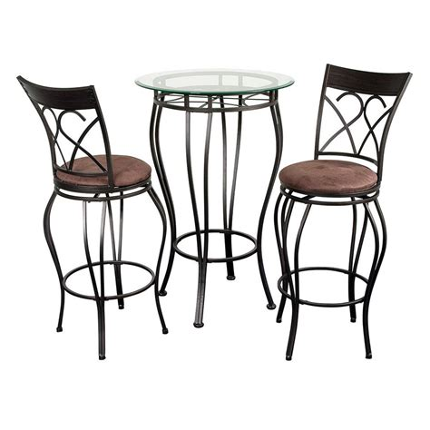 glass top bar table set fancy glass top 3 piece pub table set bar pub tables at hayneedle