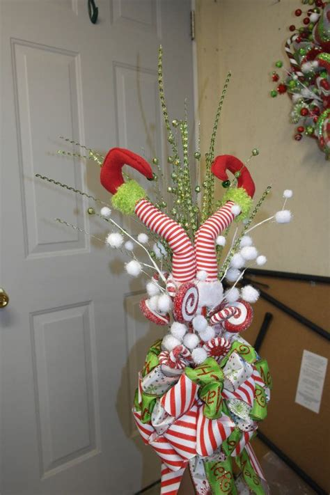 elf legs christmas tree topper ready to ship them