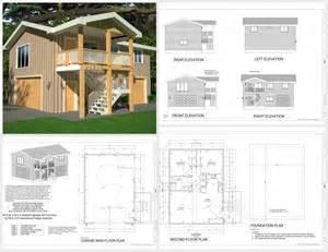 Garage Apartment Plans by G418 Apartment Garage Plans 9 Plans