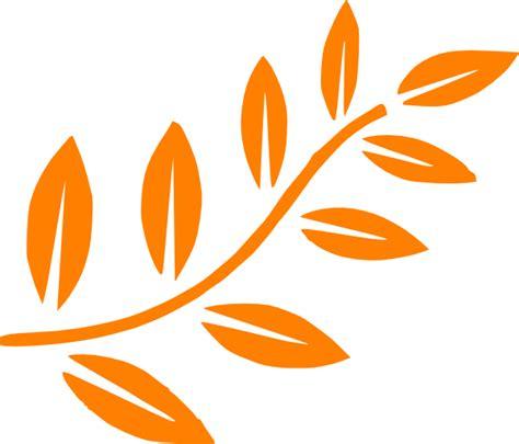 Orange Leaf Clipart