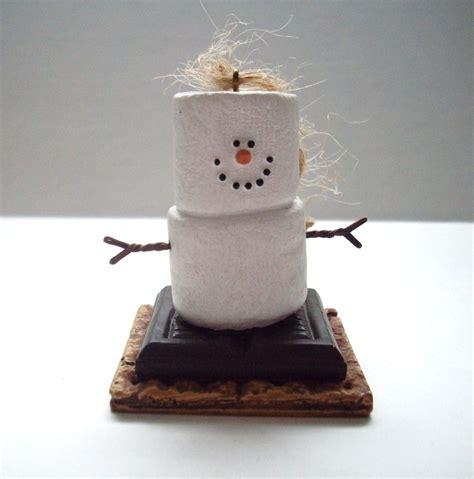 s mores marshmallow snowman christmas ornament snowmen