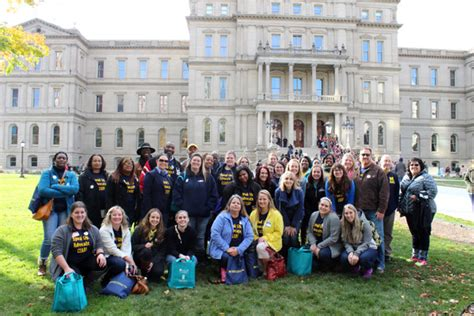 Of Michigan Flint Mba Review by Um Flint Students Attend State Social Work Event In Lansing