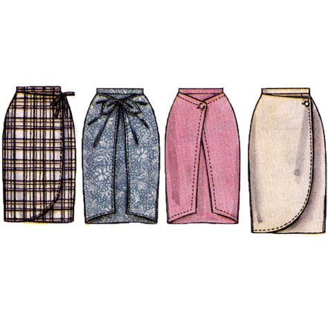 sewing pattern wrap misses mock wrap skirt sewing pattern womens sarong skirt