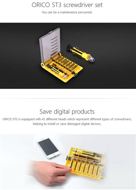 Orico St3 Screwdriver Set Obeng Set Teknisi 42 In 1 orico professional magnetic precision driver 42 in 1 set st3 asianic distributors inc